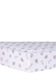 Trend Lab Safari Chevron Animals Fitted Crib Sheet