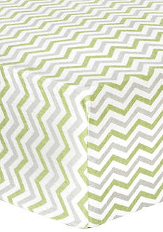 Trend Lab Sage and Gray Chevron Deluxe Flannel Fitted Crib Sheet
