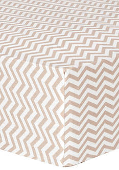 Trend Lab Doe Chevron Deluxe Flannel Fitted Crib Sheet