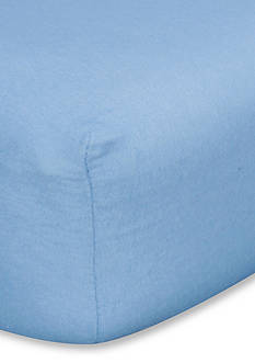 Trend Lab Blue Flannel Fitted Crib Sheet