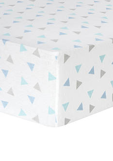 Trend Lab Mint Triangles Deluxe Flannel Fitted Crib Sheet