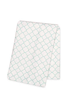 Trend Lab Mint Quatrefoil Deluxe Flannel Swaddle Blanket