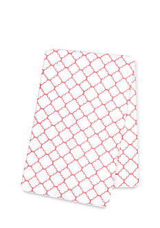 Trend Lab Coral Quatrefoil Deluxe Flannel Swaddle Blanket
