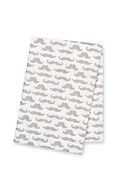 Trend Lab Mustaches Deluxe Flannel Swaddle Blanket