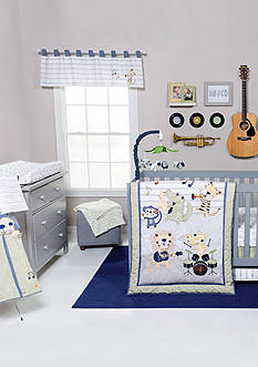 Trend Lab Safari Rock Band 6 Piece Crib Bedding Set