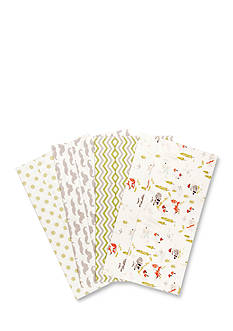 Trend Lab Winter Woods 4 Deluxe Flannel Burp Cloths