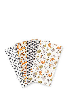 Trend Lab Friendly Forest 4 Deluxe Flannel Burp Cloths
