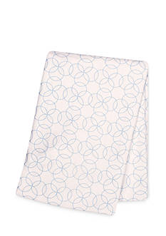 Trend Lab Blue Circles Deluxe Flannel Swaddle Blanket