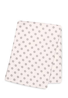 Trend Lab Gray Dot Deluxe Flannel Swaddle Blanket