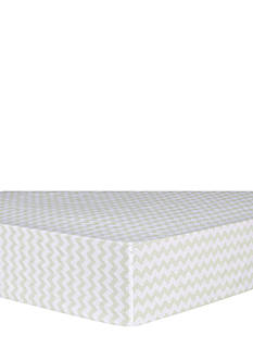 Trend Lab Sea Foam Chevron Fitted Crib Sheet