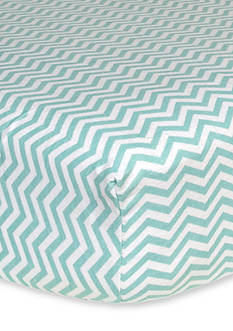 Trend Lab Mint Chevron Flannel Fitted Crib Sheet