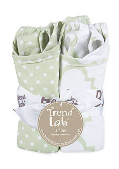 Trend Lab Sea Foam Four-Pack Bib Set