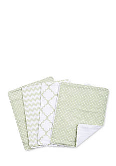 Trend Lab Sea Foam Four-Pack Burp Cloth Set