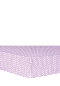 Trend Lab Orchid Bloom Dot Fitted Crib Sheet