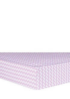 Trend Lab Orchid Bloom Chevron Fitted Crib Sheet