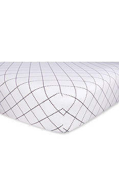 Trend Lab Versailles Black and White Fitted Crib Sheet