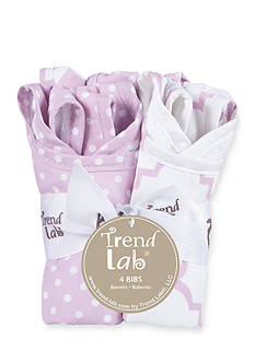Trend Lab Orchid Bloom Four-Pack Bib Set