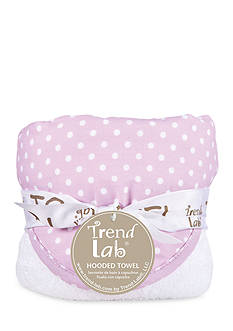 Trend Lab Orchid Bloom Dot Hooded Towel