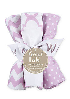 Trend Lab Orchid Bloom Five-Pack Wash Cloth Set