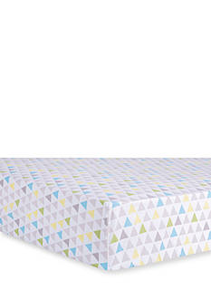 Trend Lab Triangles Multicolored Fitted Crib Sheet