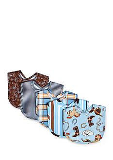 Trend Lab Cowboy Baby 5 Pack Bib Set