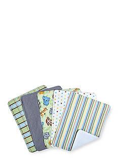 Trend Lab Chibi Zoo 5 Pack Burp Cloth Bundle Box Set