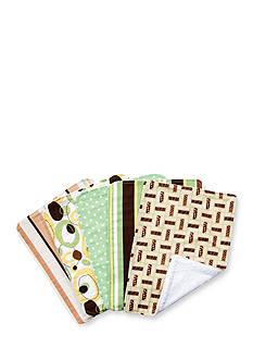Trend Lab Giggles 5 Pack Burp Cloth Bundle Box Set