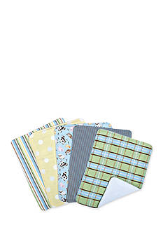 Trend Lab Baby Barnyard 5 Pack Burp Cloth Bundle Box Set