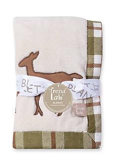 Trend Lab Deer Lodge Framed Coral Fleece Baby Blanket