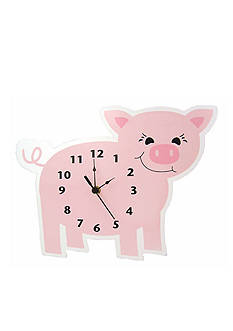 Trend Lab Baby Barnyard Pig Wall Clock - Online Only