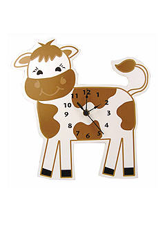 Trend Lab Baby Barnyard Cow Wall Clock - Online Only