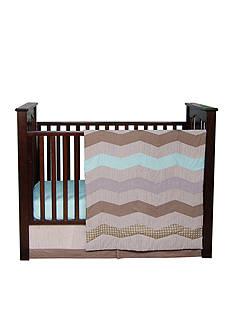 Trend Lab Cocoa Mint 3-Piece Crib Bedding Set