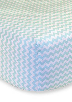Trend Lab Mint and White Chevron Fitted Crib Sheet