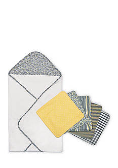 Trend Lab Hello Sunshine Hooded Towel and Wash Cloth Bouquet Set