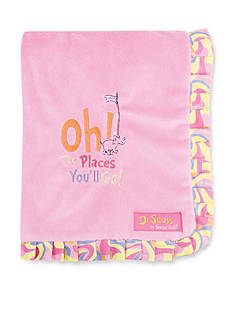 Trend Lab Dr. Seuss™ Oh, The Places You'll Go Pink Ruffle Receiving Blanket