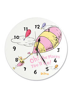 Trend Lab Dr. Seuss Oh, The Places You'll Go Pink Wall Clock - Online Only