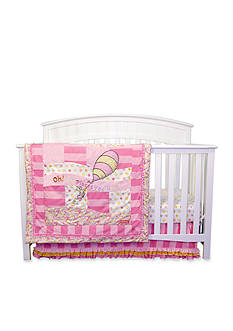 Trend Lab Dr. Seuss™ Oh, The Places You'll Go Pink 3-Piece Crib Bedding Set