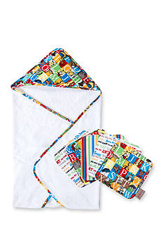 Trend Lab Dr. Seuss™ Alphabet Seuss Hooded Towel and 5-Pack Wash Cloth Set