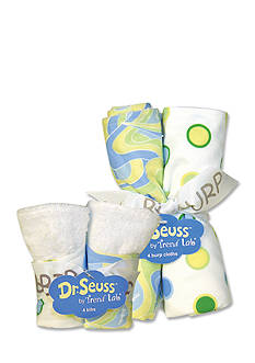 Trend Lab Dr. Seuss™ Oh, The Places You'll Go! Blue 4 Pack Bib and 4 Pack Burp Cloth Set