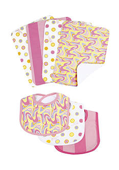 Trend Lab Dr. Seuss™ Oh, The Places You'll Go Pink 3-Pack Bib and 4-Pack Burp Cloth Set