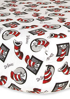 Trend Lab Dr. Seuss The Cat in the Hat Flannel Fitted Crib Sheet