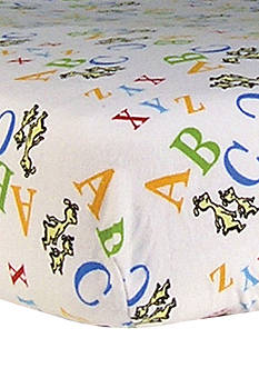Trend Lab Dr. Seuss ABC Flannel Fitted Crib Sheet