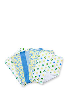 Trend Lab Dr. Seuss Oh, the Places You'll Go! Blue 5 Pack Burp Cloth Bundle Box Set