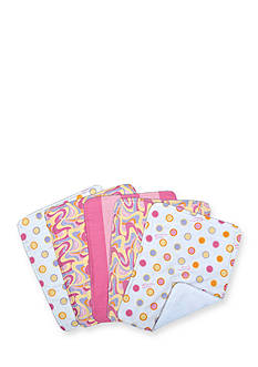 Trend Lab Dr. Seuss Oh, the Places You'll Go! Pink 5 Pack Burp Cloth Bundle Box Set