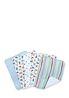 Trend Lab Dr. Seuss One Fish Two Fish 5 Pack Burp Cloth Bundle Box Set