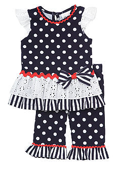 Rare Editions Polka Dot Legging Set