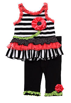 Rare Editions Tiered Ruffle Set