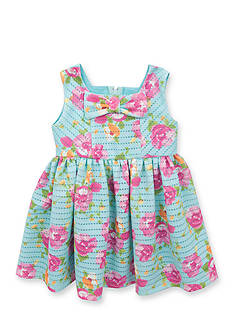 Rare Editions Printed Floral Knit Dress Toddler Girls