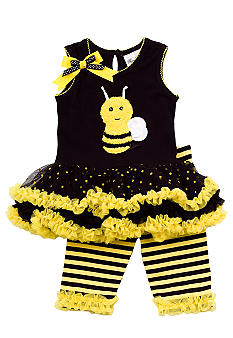 Rare Editions Bee Tutu Legging Set Toddler Girl - Online Only