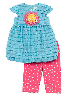 Rare Editions Turquoise Eyelash Set Toddler Girls - Online Only